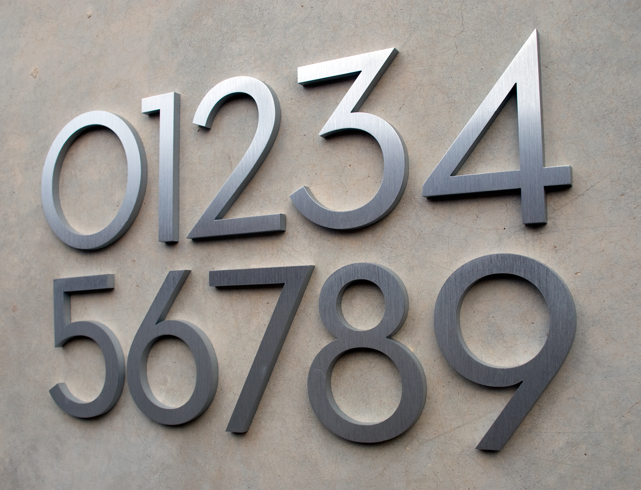 Pin modern house numbers stainless steel on pinterest