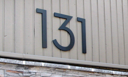modern house numbers in matte black