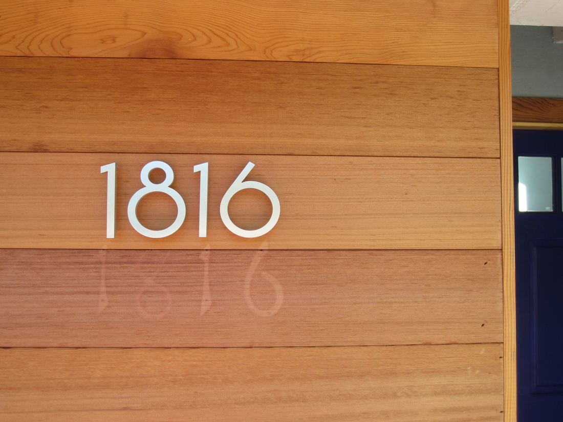 Contemporary modern house numbers