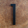 modern house numbers 1 in black