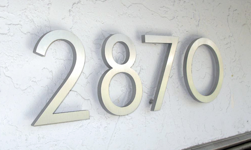 How To Install House Numbers Hunker