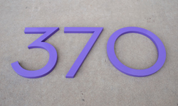 modern house numbers aluminum