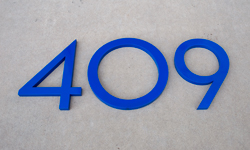 modern house numbers 409