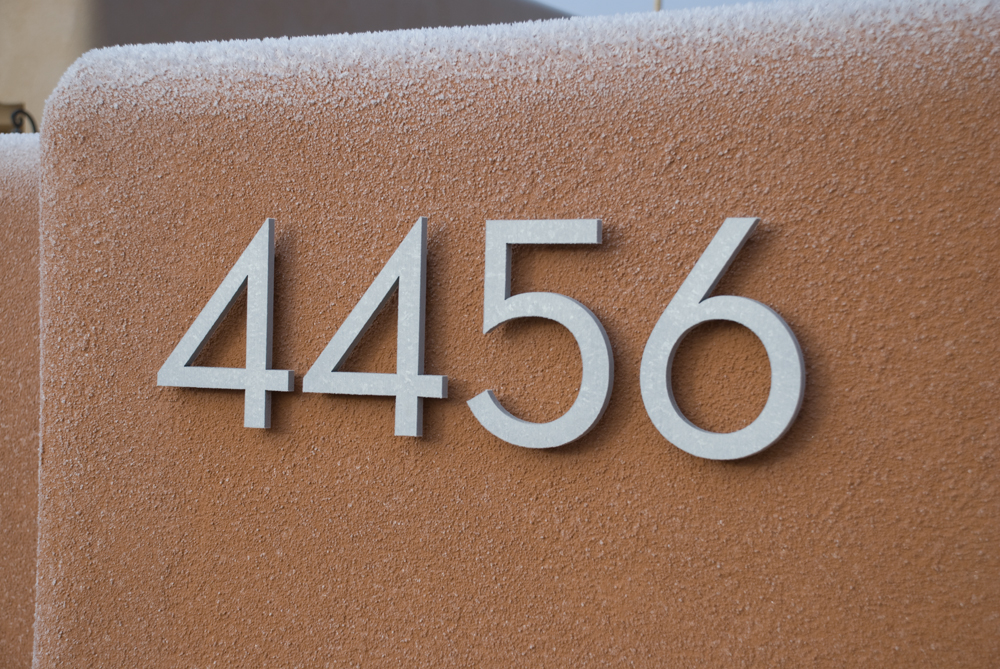 Modern Mid Century House Numbers