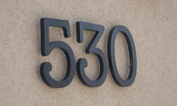 modern house numbers 530