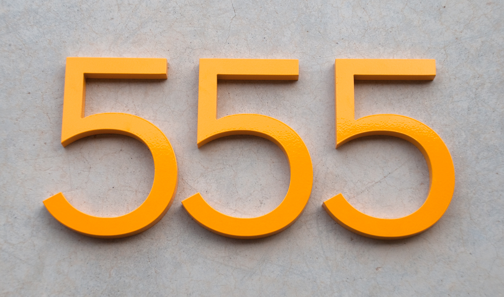 bright house numbers always yellow pinterest