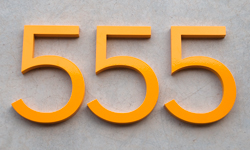 modern house numbers 555