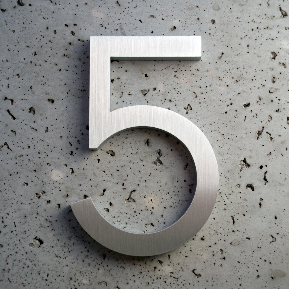 Modern House Numbers And Letters