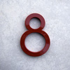 modern house numbers 8 in red
