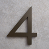 modern house numbers 4 in bronze