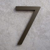 modern house numbers 7 in bronze