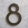 modern house numbers 8 in bronze