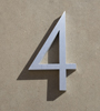 mid century house numbers 4