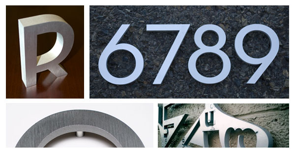 House Numbers and Letters