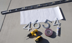 modern house numbers tools