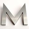 modern house numbers letter M