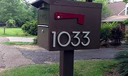 mailbox modern house numbers 1033