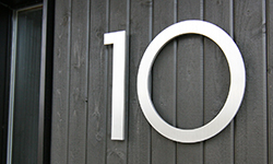 modern house numbers 10 wood siding