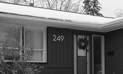 modern house numbers 249 wood siding