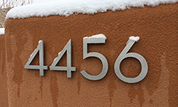 mid century house numbers