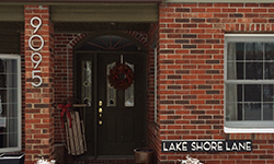 modern house numbers 9095 red brick