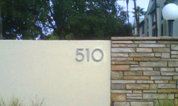modern house numbers 510