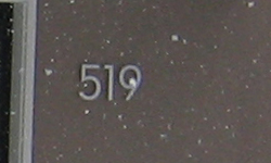 modern house numbers 519