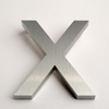 modern house numbers letter X